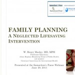 Webinar: Family Planning – A Neglected Lifesaving Intervention