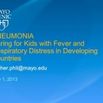 Webinar: Pneumonia – Caring for Children in Developing Countries