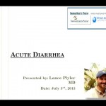 Webinar: Saving Lives – Treatment of Acute Diarrhea